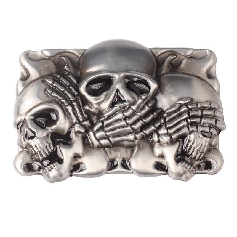 Skull Skeleton Belt Buckle Belt DIY Accessories Western Cowboy Style Smooth Belt Buckle Punk Rock Style K17