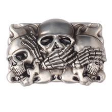 Скелет череп пряжки ремня DIY аксессуары западный стиль ковбойские гладкой панк-рок К17