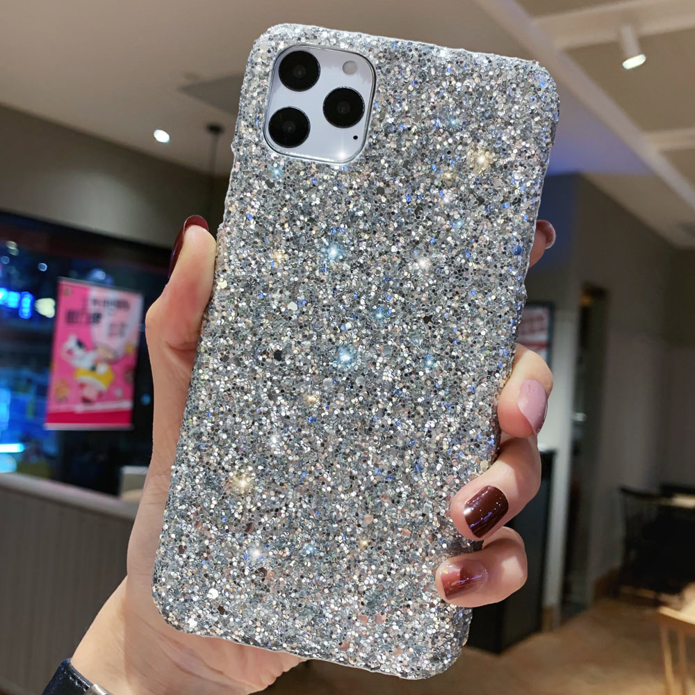 H003966debe9d4376a4dd0f6980db9e95z - LAPOPNUT Luxury Sparkle Glitter Phone Case for IPhone 11 Pro XS X Xr Xs Max 8 7 6 6s Plus SE Christmas Sequins Slim Cover