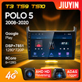 JIUYIN Тип C автомобильный Радио Мультимедиа Видео плеер навигация GPS для Volkswagen POLO 5 2008 - 2020 Android 10 No 2din 2 din