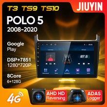 Jiuyin tipo c rádio do carro multimídia jogador de vídeo navegação gps para volkswagen polo 5 2008 - 2020 android 10 nenhum 2din 2 din