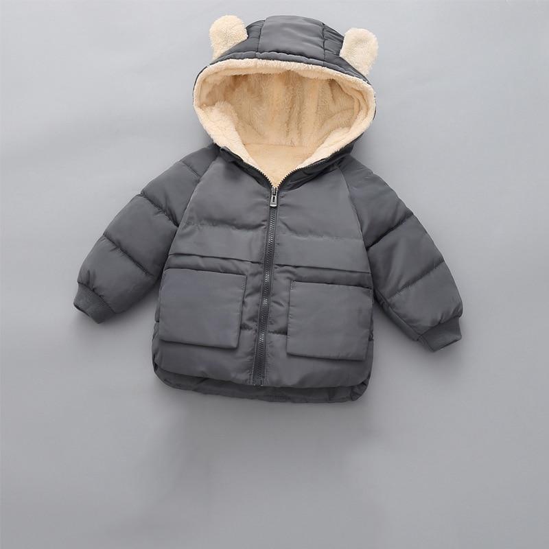 CROAL CHERIE Girls Coat Kids Winter Jacket For Boys Warm Fleece Boys Clothes Children Parkas Velvet Outerwear 90-130cm (6)
