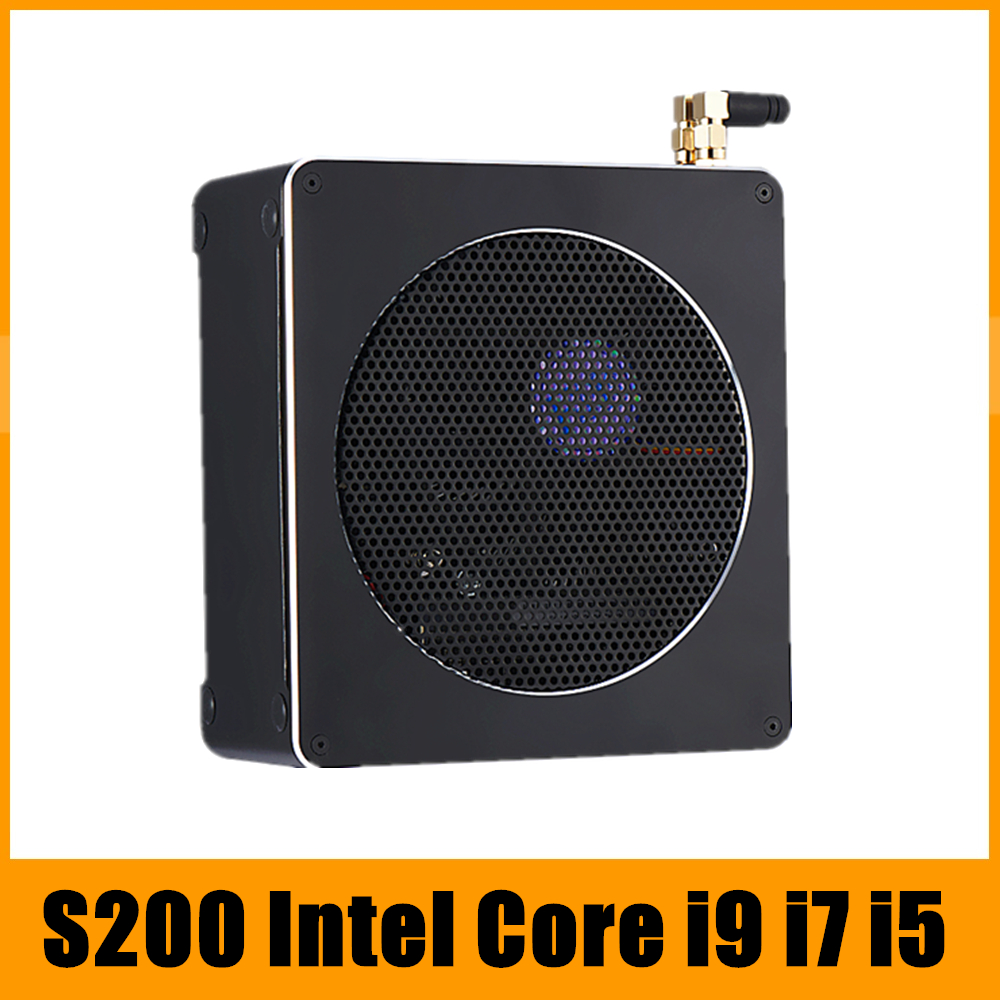 Top Gaming Mini PC i9 i7 8850H i5 8300H 6 Core 12 Fili 2 * DDR4/DDR3L NVMe M.2 Nuc Computer Desktop Win10 Pro AC WiFi HDMI DP
