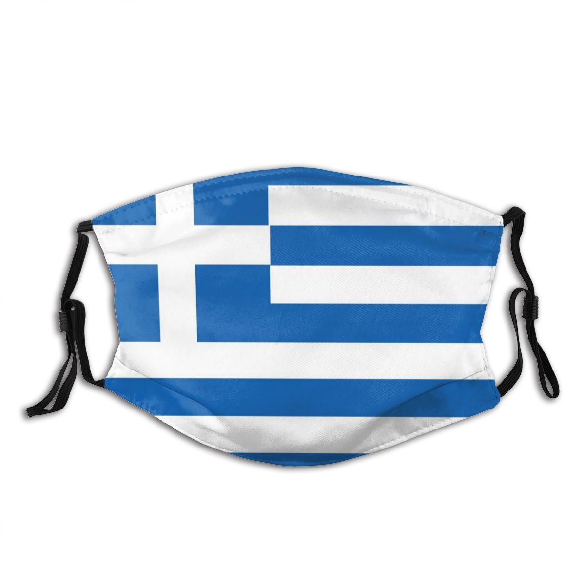 Greek National Flag Greece Reusable Mouth Face Mask Anti Bacterial Dustproof Mask With Filter Protection Cover Respirator Muffle