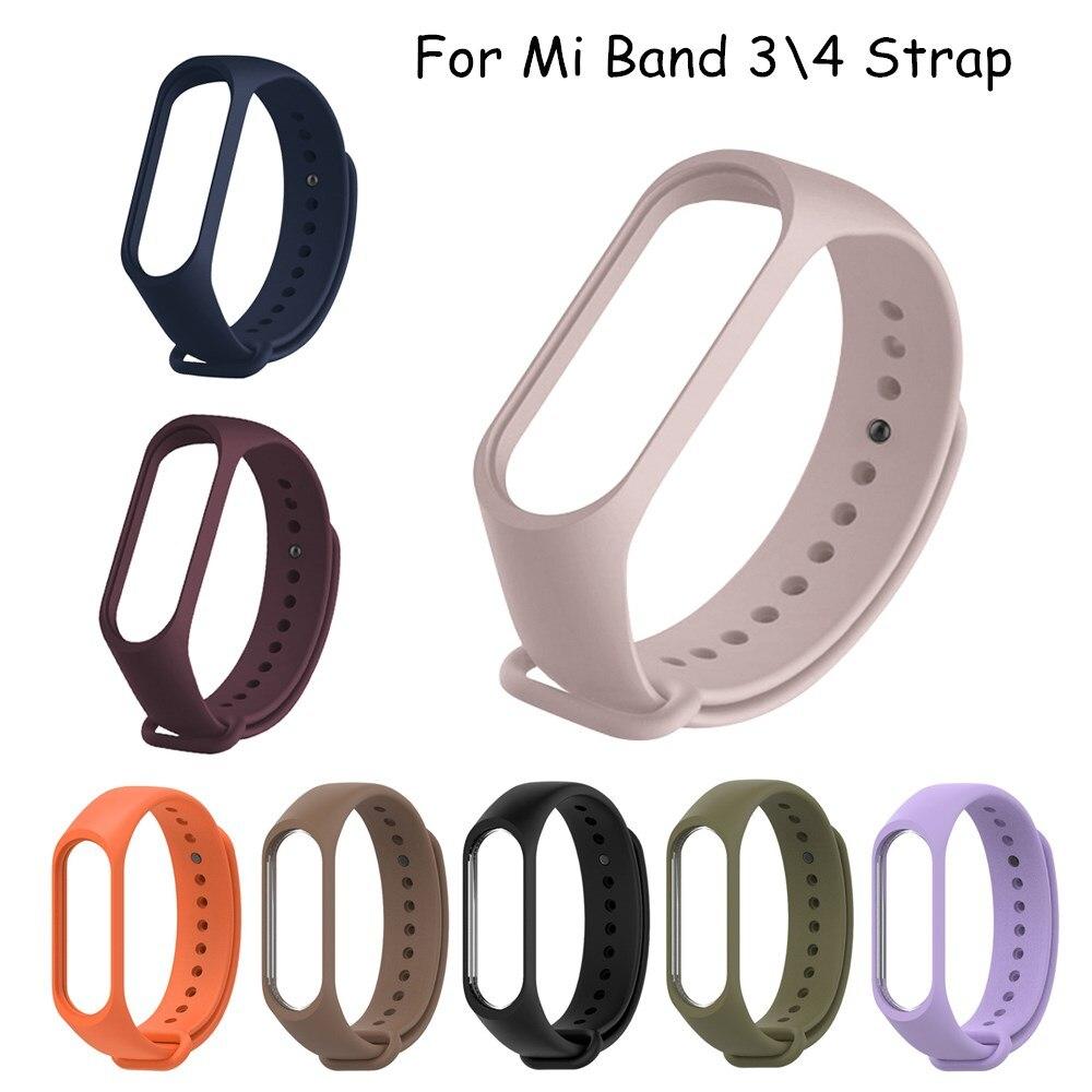 Для Xiaomi mi Band 4 3 ремешок Спортивные Смарт часы mi band3 сменный Браслет спортивный браслет для mi Band4 Band 4 3 ремешок пленка|Смарт-аксессуары|   | АлиЭкспресс