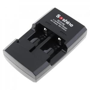 Image 2 - Умное зарядное устройство Soshine с 2 слотами для литий ионных батарей RCR123 / RCR2 Rapid, со светодиодным индикатором для аккумуляторов 14250 CR2 16340 17335 15266