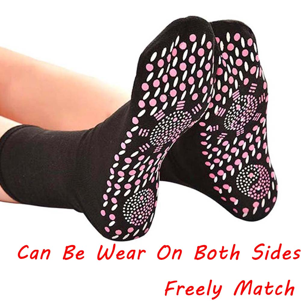 Socks Self Heating Solid Tourmaline Socks Pain Relief Unisex Dot Socks