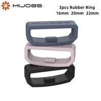 Anello cinturino 16 20 22mm di ricambio in gomma per Huawei Honor cinturino cinturino custode anello di sicurezza supporto di sicurezza per Amazfit Bip