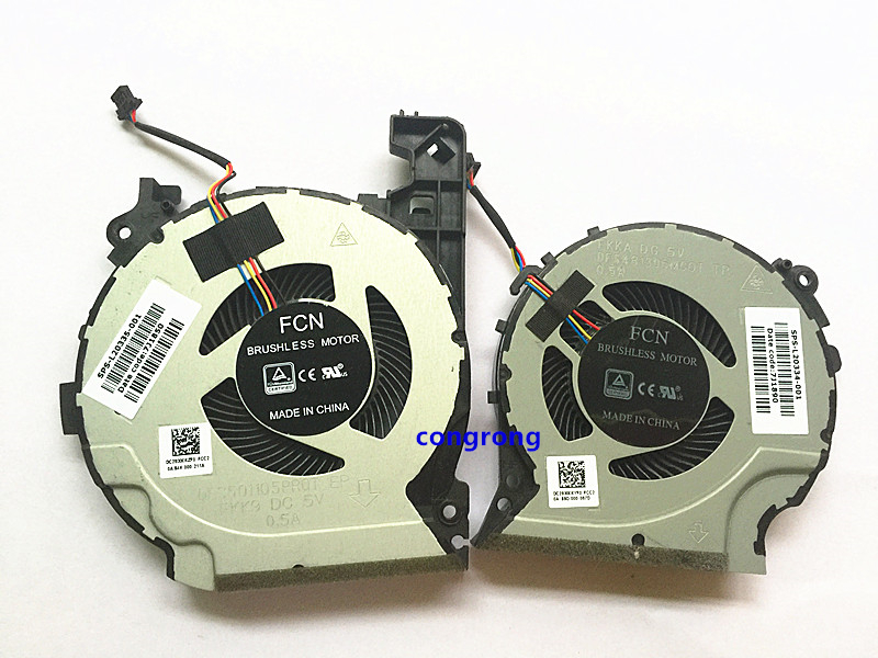 GPU CPU COOLING FAN COOLER FOR HP PAVILION 15-CX0058WM 15-CX 15-CX0068TX FKKA DFS501105PR0T FKK9 TPN-C133 FAN