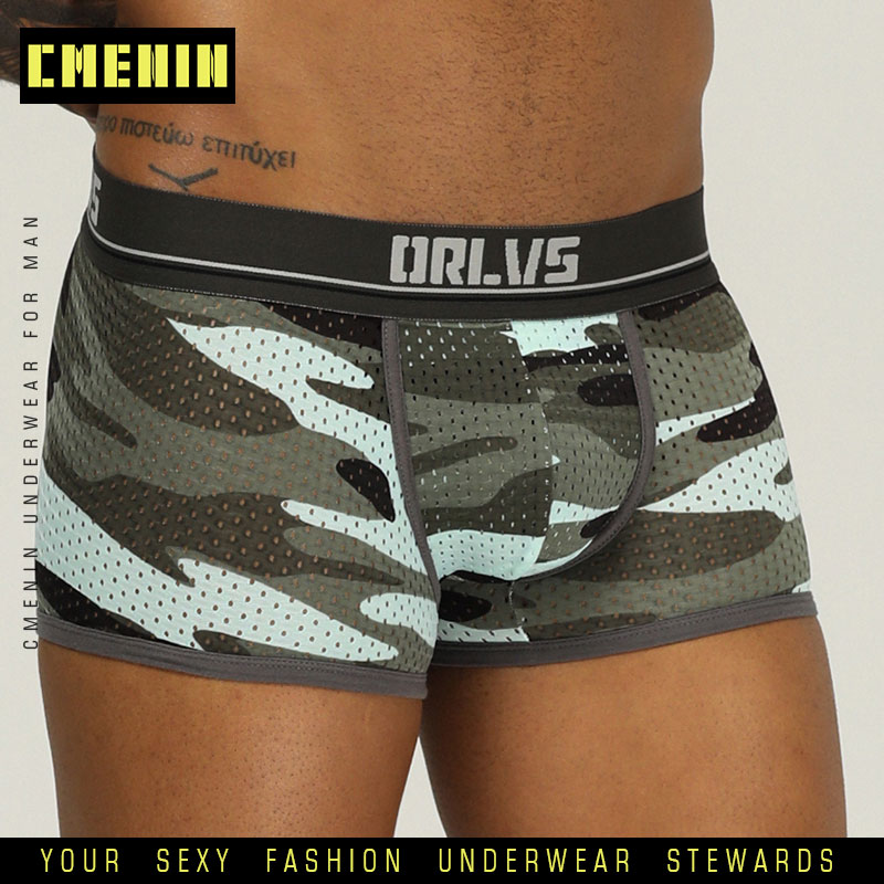 Man Underwear Men Boxer Homme Mens Underwear Boxershorts Male Boxers Sexy Boxer Shorts Gay Lingerie OR191 Camouflage