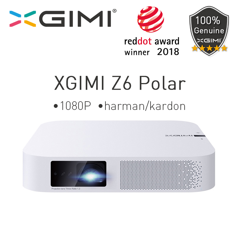 XGIMI Z6 Polar <font><b>Mini</b></font> DLP Full <font><b>HD</b></font> <font><b>Projector</b></font> 1080P Home Theater 4K 700 Ansi 3D Android Wifi Bluetooth LED <font><b>Projectors</b></font> Smart Beamer image