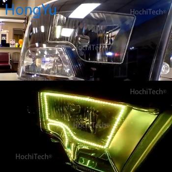 наборы фар Halo   Для Dodge Ram запчасти светодиодные фары Rgb Изменение цвета Halos кольца наборы для Dodge Ram OEM проектор контур 2009-2016