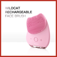 BLINGBELLE Electric Small Cleansing Brush Wildcat Rechargeable Silicone Cosmetic Remover High Frequency Vibration Waterproof