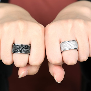Image 4 - TOPGRILLZ Micro Pave Iced Out Bling AAA+ Cubic Zircon Round Rings Hip Hop Rock Jewelry Copper Material Ring For Man Women