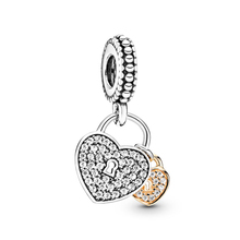JrSr new 100% 925 sterling silver Beads Romantic Love Heart Pendants Charms Fit Pandora Bracelet woman DIY jewelry Free shipping 100% 925 silver sterling bracelet for woman with heart chain ice charms fashion bills free shipping
