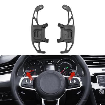 Dla VW GOLF GTI R GTD GTE MK7 7 polo GTI Scirocco 2014-2019 metalowy samochód kierownica wiosło przedłużyć Shifter wymiana tanie i dobre opinie JOGON Paddle Metal Alloy Volkswagen Don t fit for Golf 7