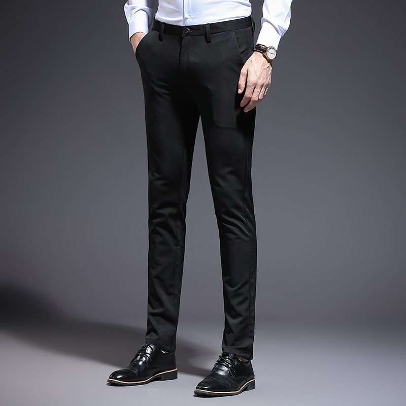 2019 New Style MEN'S Casual Pants New Style Skinny Suit Pants Elasticity Slim Fit MEN'S Trousers Korean-style Men's Trousers Cas