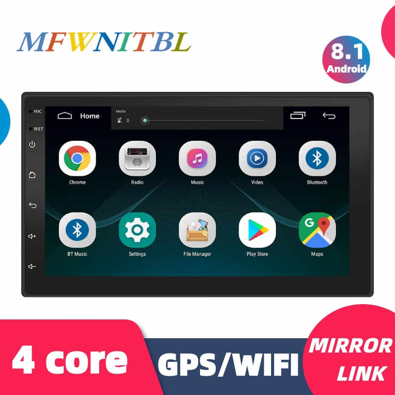 7 ''Mobil Radio 2 Din Android Mobil Stereo Multimedia Player Autoradio 2Din Touch Screen GPS WIFI Bluetooth FM Auto audio Player