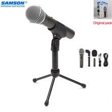 100% оригинал samson q2u ручной динамический usb микрофон с