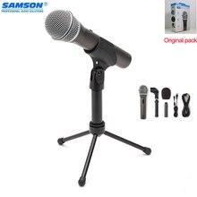 100% oryginalny Samson Q2u ręczny dynamiczny mikrofon usb ze słuchawkami XLR port mic do podcastingu radia i filmów YouTube