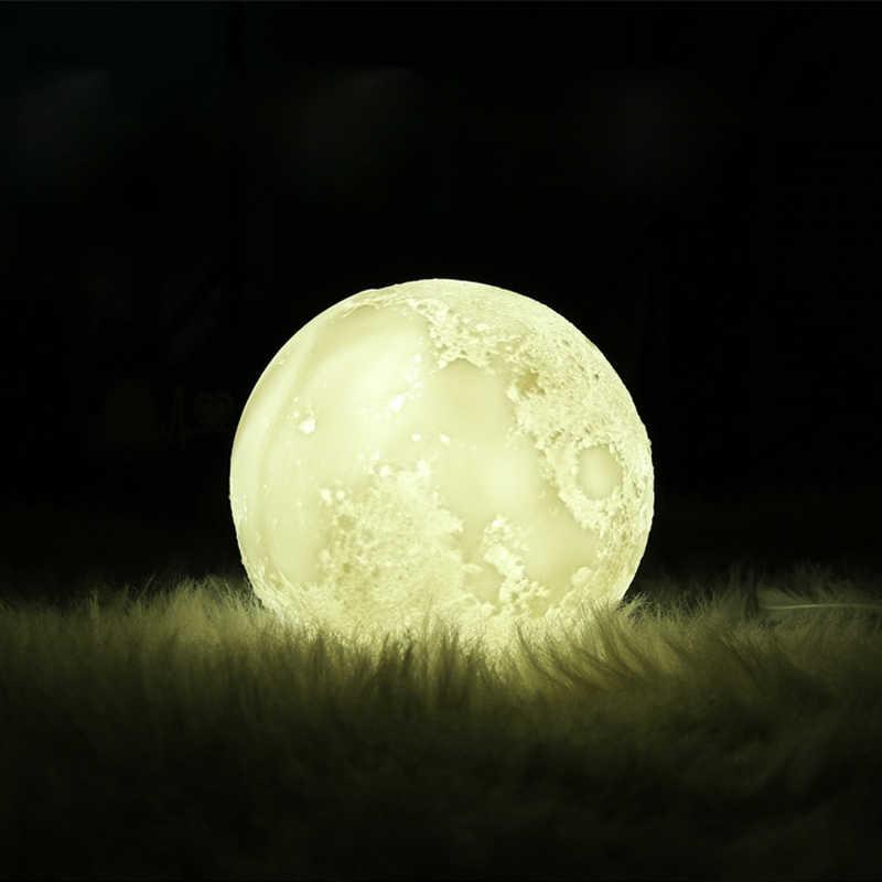 Новинка 3D луна лампа увлажнитель воздуха Арома эфирные масла диффузор USB Ультразвуковой Увлажнитель Холодный Туман чайник