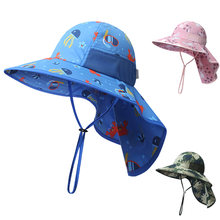 Солнцезащитная шляпа с клапаном на шее для мальчиков и девочек;