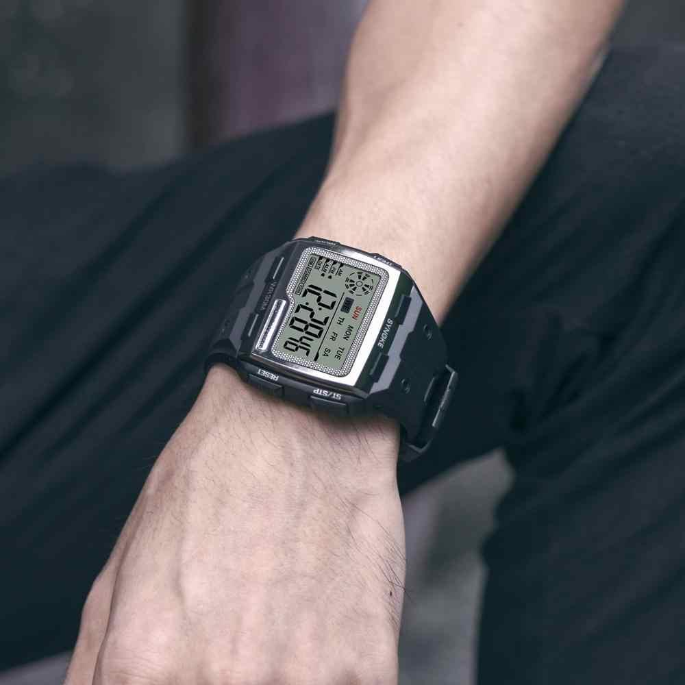 SYNOKE męski kwadratowy cyfrowy zegarek Luminous wielofunkcyjny Outdoor Sports wodoodporny mężczyzna zegarek LED wyświetlacz cyfrowy zegarek