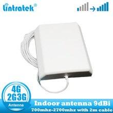 Lintratek 9dbi 700 2700Mhz 2G 3G 4G מקורה לוח אנטנה GSM CDMA WCDMA LTE UMTS מקורה מהדר אנטנת 4G LTE קיר אנטנה