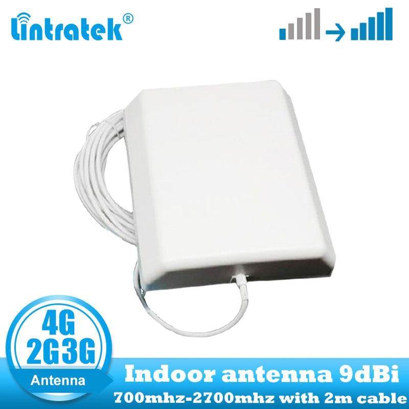 Lintratek 9dbi 700-2700Mhz 2G 3G 4G Indoor Panel Antenna GSM CDMA WCDMA LTE UMTS Indoor Repeater Antenna 4G LTE Wall Antenna
