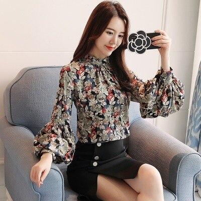 Fashion woman blouses 2020 print chiffon blouse shirt womens tops and blouses long sleeve women shirts blusas femininas 4