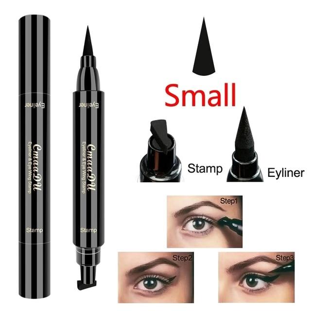 TSMC big Seal Stamp Liquid Eyeliner Pen Waterproof Fast Dry Black Eye Liner Pencil With Eyeliner Cosmetic Double-ended Eyeliner 2