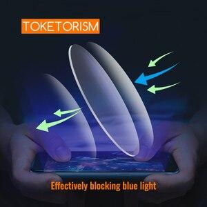 Image 2 - Toketorism אנטי כחול אור עדשות שרף אספריים משקפיים עדשת מרשם משקפיים מחשב