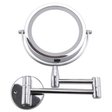 Bath Mirror Led Cosmetic Mirror 1X/3X Magnification Wall Mounted Adjustable Makeup Mirror Dual Arm Extend 2-Face Bathroom Mirror springquan 8 inch led mirror with lamp 2 face european fashion collapsible wall mirror bathroom mirror flat screen hd 3x