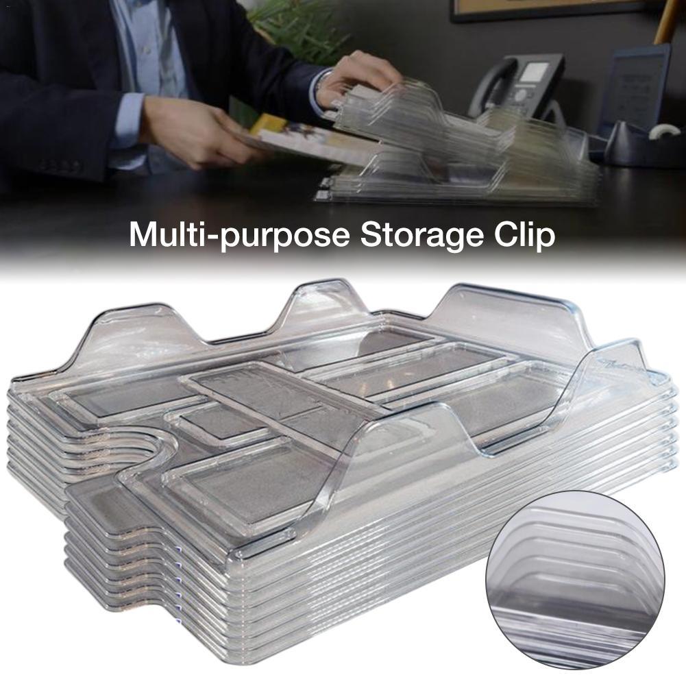 Innovative Desktop File Storage Folder Stack File Multi-purpose Storage Rack Office File Organizers ABS Plastic Folding Template