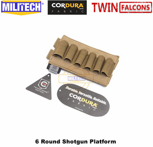 Image 5 - MILITECH TWINFALCONS TW 500D Delustered Cordura Molle 6 Rounds Buck Shotgun Shell Platform Ammo Pouch Elastic Band Ammo Base