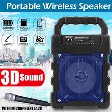 Портативный беспроводной Bluetooth динамик большой звук стерео FM радио Светодиодный светильник водонепроницаемый портативный открытый динамик Поддержка TF карты