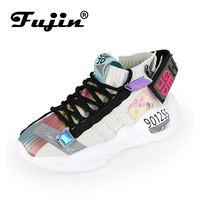 Fujin Sneakers women Women Vulcanized Shoes Summer Sneaker 2019 Spring Autumn Knitting Breathable Shoe Chunky Platform shoes