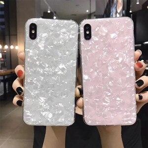 Glitter Marble Shell Pattern Case For Xiaomi 10 Redmi Note 8 7 9 pro 6A 6 Pro S2 8A K30 8T MI 6X 8 Soft IMD Silicone Back Cover