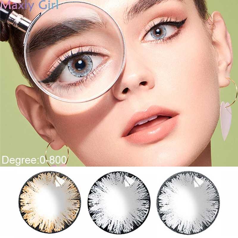 Duże soczewki kontaktowe krótkowzroczność stopień 0-800 beauty-uczeń kolor kosmetyczny miękki obiektyw makijaż Halloween Cute Cartoon DIY ubrania imprezowe