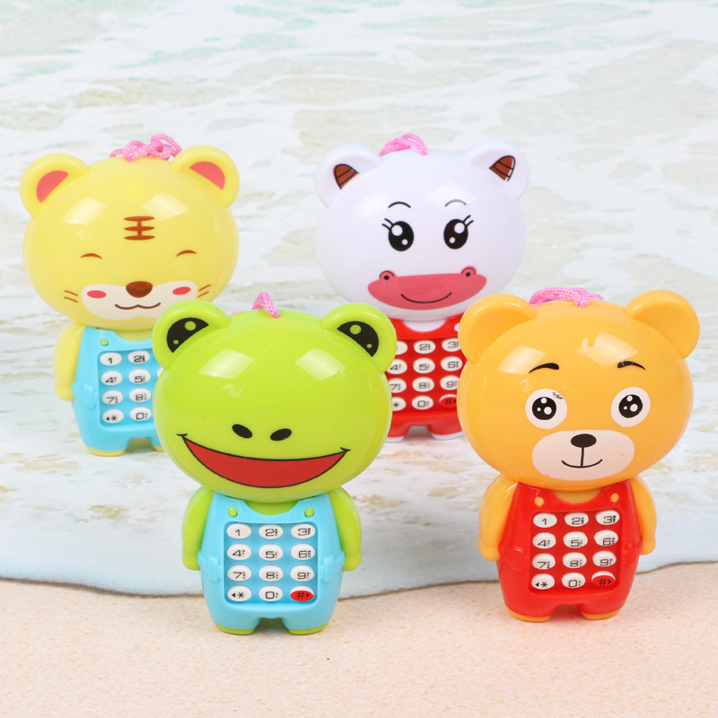 Cartoon Music Phone Baby Toys Educational Early Learning Toy Mobile Telephone Gift For Kids Children With LED Light