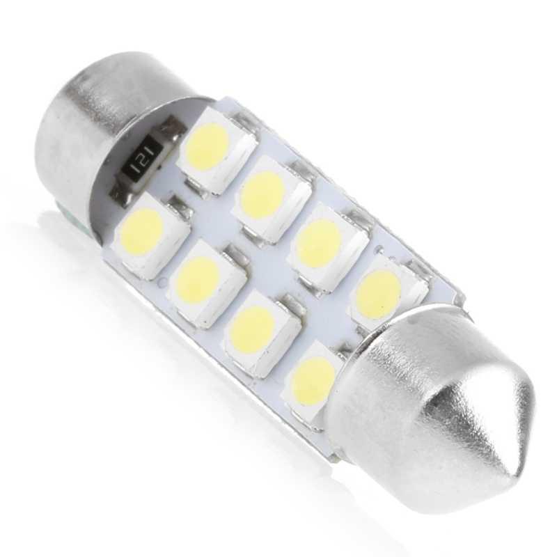 YAM 1 Pc 41mm lumière LED 1210 8 SMD voiture dôme Double pointe toit ampoule lampe de lecture