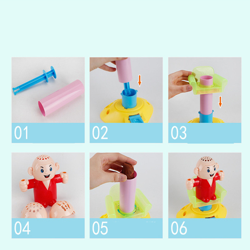 3D Color Plasticine Mud Hairdresser Model Set Tool Mold Play Dough Toys Pretend Play DIY Clay Simulation Toys For Girls Kids