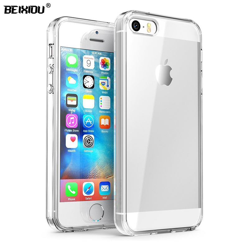 Case For iPhone SE 5S 5 TPU Silicon Durable Clear Transparent Soft Case for APPLE iPhone SE 5S 5 protective Back Cover