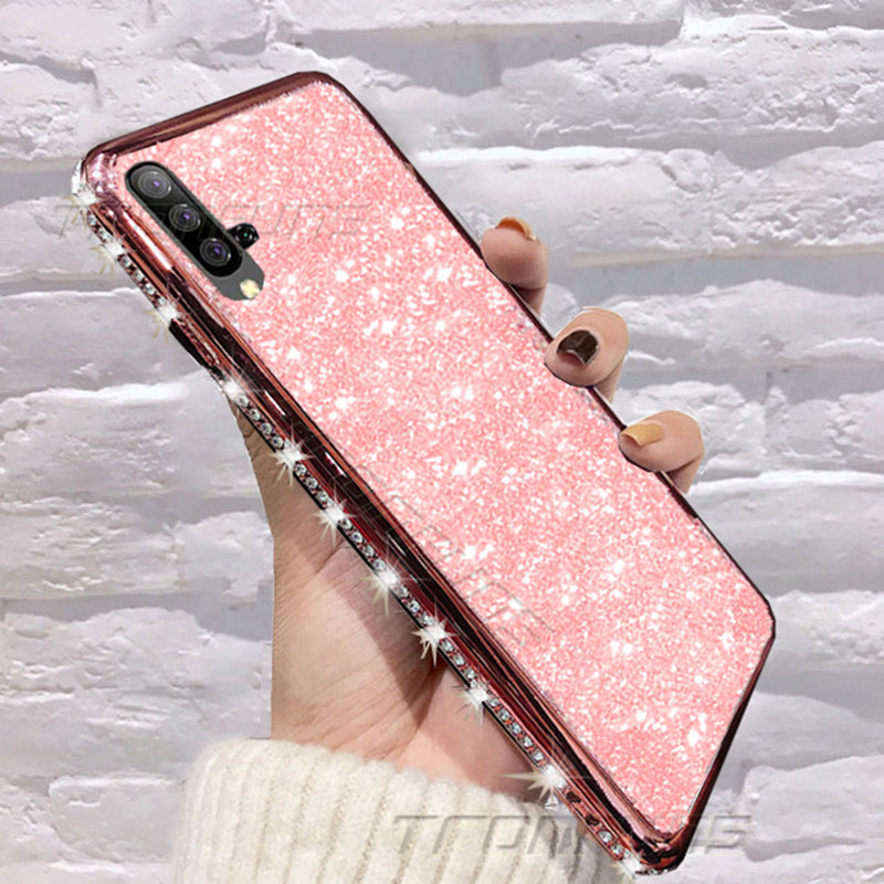 Soft Diamond Glitter <font><b>Case</b></font> For Huawei P30 P20 P Smart Plus Y5 Y6 Y7 Y9 Prime Pro 2019 <font><b>Honor</b></font> 10i 20i 20 <font><b>10</b></font> <font><b>Lite</b></font> 8X 8C 8A 8S Cover image