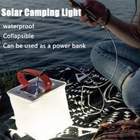 Linterna inflable portátil para acampar, cargador Solar para exteriores, luces alimentadas por energía Solar, piscina, playa, impermeable