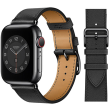 Single ring Leather Strap suitablefor iWatch 38mm 42mm Susiness sports band Suitable for Apple Watch 40mm 44mm Series 123456 SE
