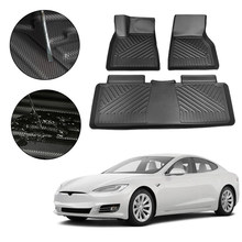 TPE Car Floor Mats For Tesla Model S 2014 2015 2016-2019 5-Seat Waterproof Non-Slip Auto Styling Accessories Interior Renovation