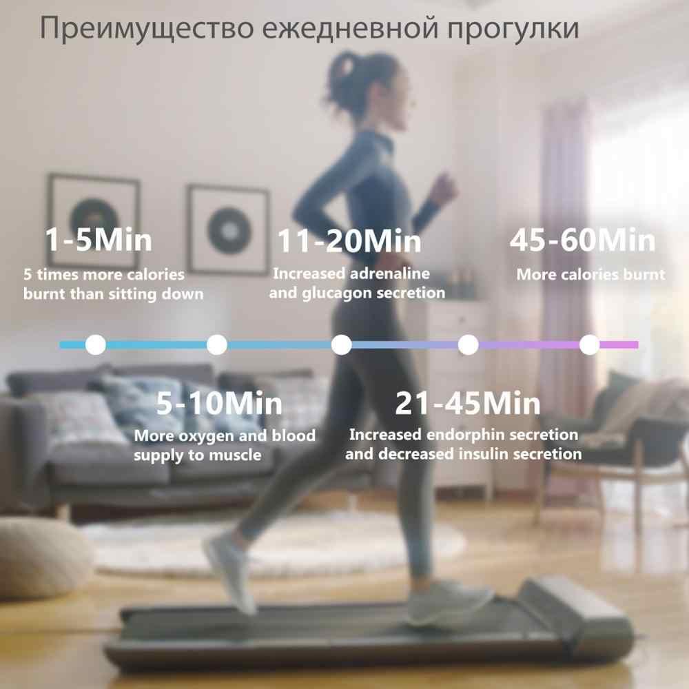 WalkingPad A1 akıllı elektrikli katlanabilir koşu bandı Jog uzay yürüyüşü makinesi aerobik spor Fitness ekipmanları ev Xiaomi ekosistem
