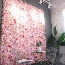 60X40CM Artificial Silk Rose Flor adesivos de Parede Decoração Do Casamento Do Natal Decorativo Hortênsia de flores de Seda Decoração de Casamento Pano de Fundo
