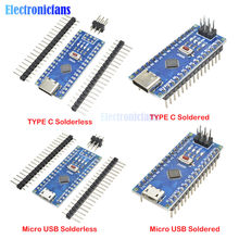 Плата разработки микроконтроллера diymore CH340 Nano V3.0 ATMEGA328P-MU ATMEGA328, макетная плата Micro USB Type-C, адаптер для Arduino